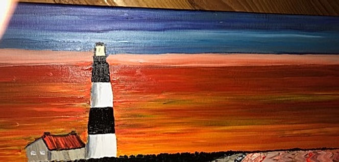 Lighthouse Sunset by Seashore Art