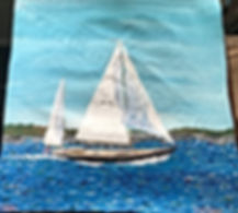 Painting Sailboat Full Sail