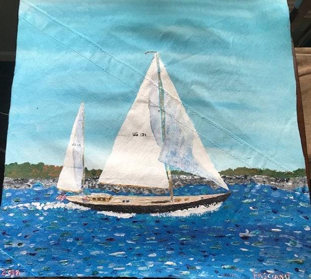 Painting Sailboat Full Sail