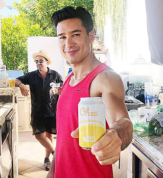 Mario-Lopez-with-a-refreshing-Ohza-Class