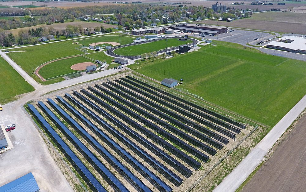 Otsego Local School District's solar power system, serving their High School and Elementary School buildings, is installed with First Solar modules. First Solar's newest manufacturing plant is located in Northwestern Ohio and employs over 500 people locally.