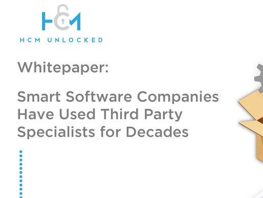 Smart Software Companies Have Used Third Party Specialists for Decades