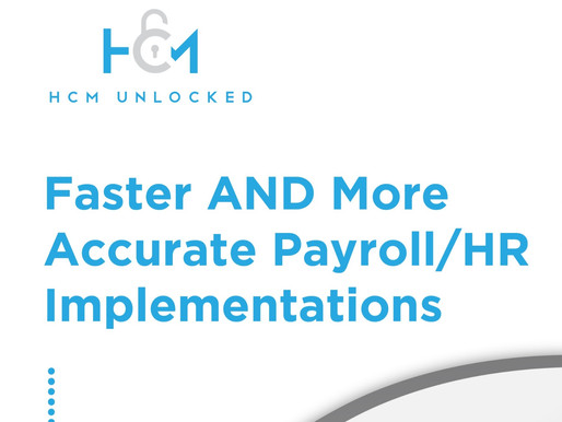 Faster AND More Accurate Payroll/HR Implementations