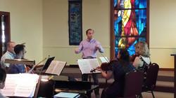 Piano/String Quartet rehearsal