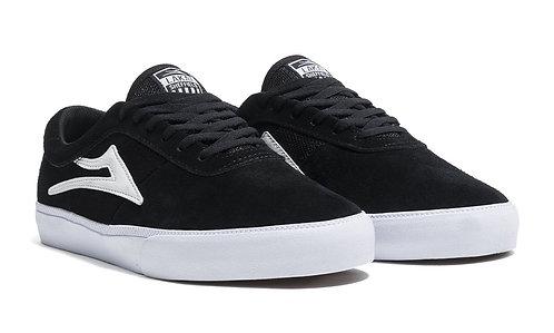 Lakai Sheffield Skate Shoes Black/White Suede
