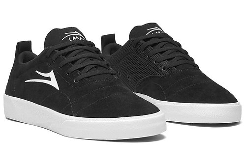 Lakai Bristol Skate Shoes Black/White - Suede