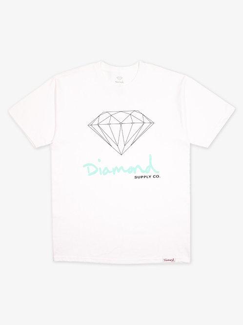 Diamond Supply Co. OG Sign Logo T-Shirt White