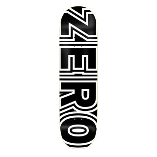 Zero Skateboards Bold Black & White Skateboard Deck 8.00""