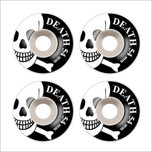 Death Skateboards OG Skull 54mm White Wheels