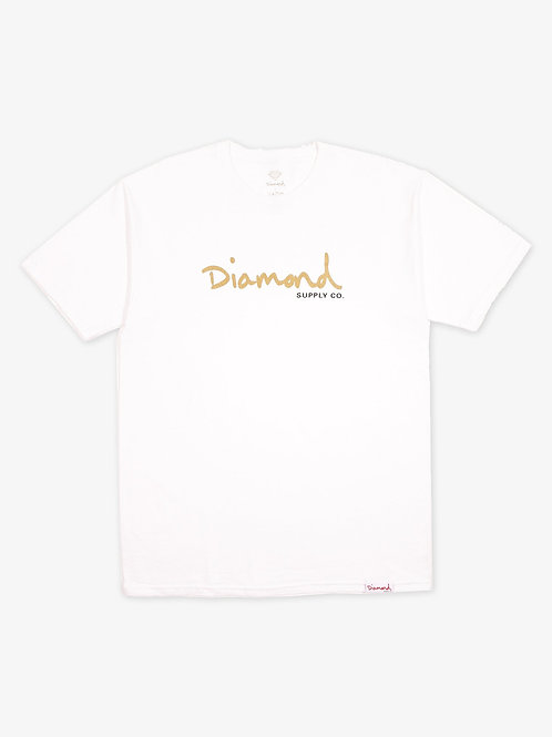 Diamond Supply Co. OG Script T-Shirt White