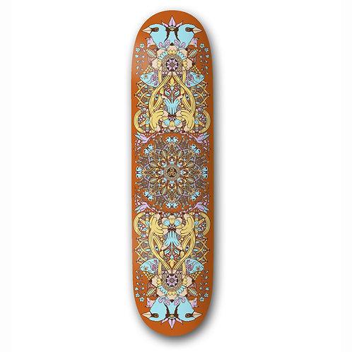 "The Drawings Boards - Mandala Orange Deck 8.38"""