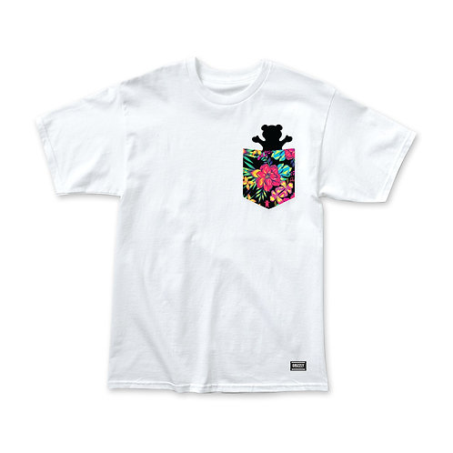 Grizzly Maui Pocket T-Shirt - White