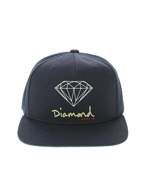 Diamond Supply Co. OG Sign Navy Snapback