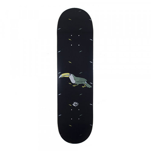 "Magenta Toucan Skateboard Deck 8.125"""