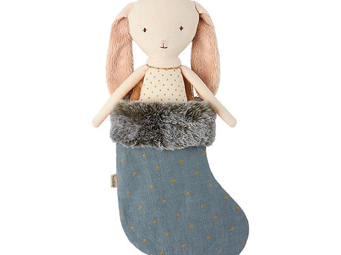 Maileg - Bunny Angel in stocking - blau