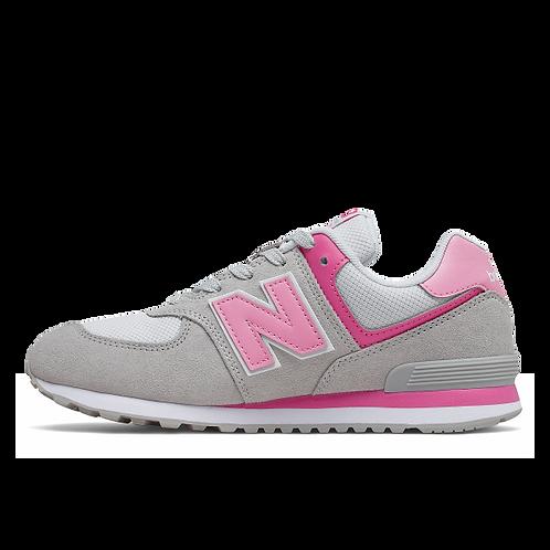 New Balance Sneaker 574 - grau/rosa