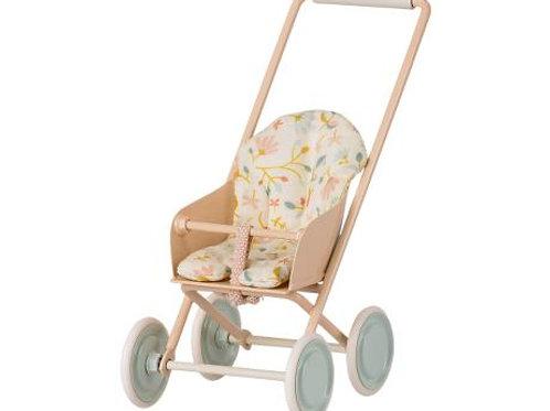 Maileg - Kinderwagen rosa micro