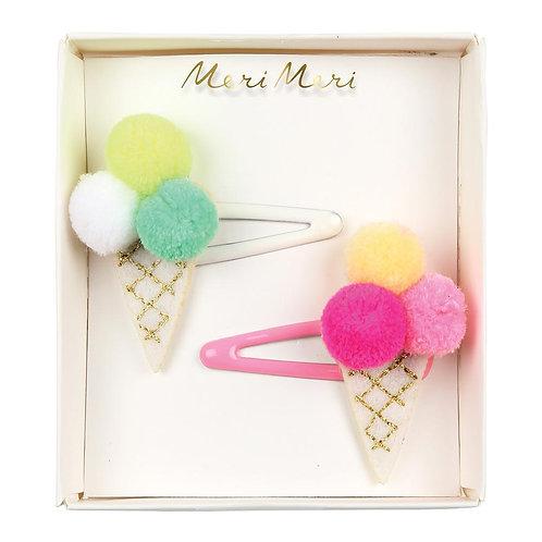 Meri Meri - Haarspange Pompom Ice Cream