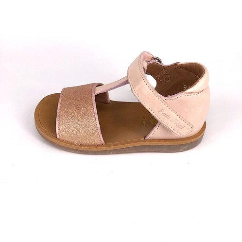 POM D'API - Sandale rosa/Glitzer rosa