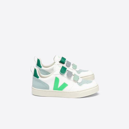 Veja - V-10 Velcro Chromfree weiß/grün