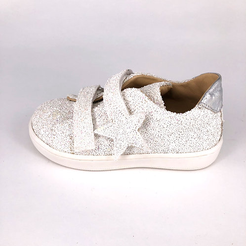 jff - Sneaker mit Glitzer - weiß