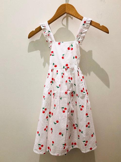 Sunuva - besticktes Trägerkleid Kirschen