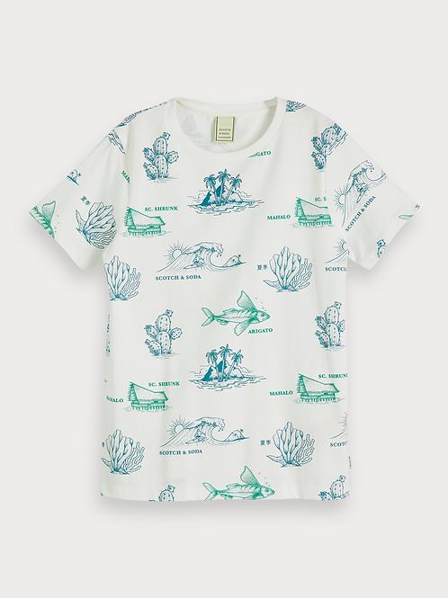 Scotch & Soda T-Shirt mit Aufdruck