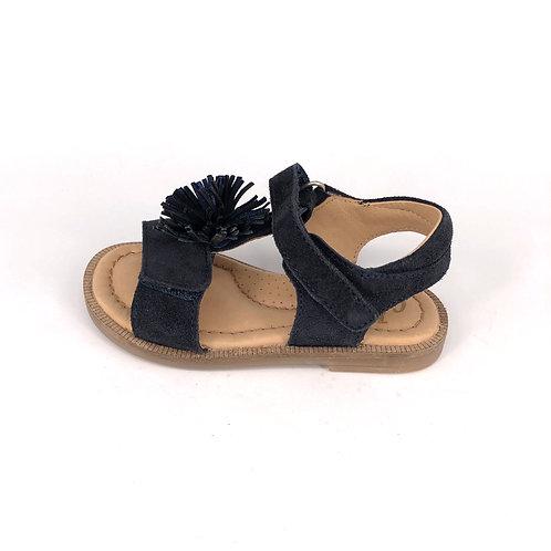 Clic! Sandale mit Blume - navy