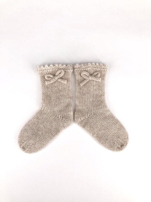 Oscar et Valentine - Kaschmir Socken beige