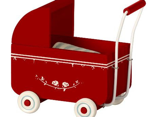 Maileg - Kinderwagen MY rot