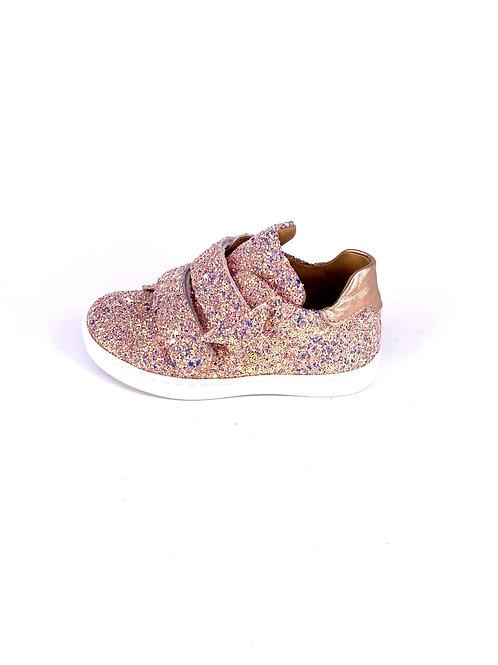 Jff - Sneaker mit Glitzer - rose gold