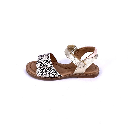 Clic! - Sandale gold/Leoprint