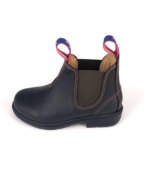 BLUE HEELER Chelsea Boots Wombat - dunkelbraun/olive