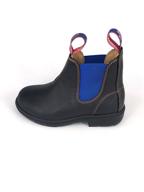 BLUE HEELER Chelsea Boots Wombat - dunkelbraun/blue electric