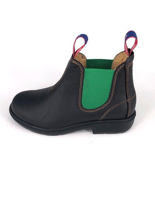 BLUE HEELER Chelsea Boots Wombat - dunkelbraun/grün