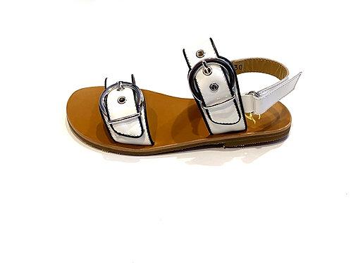 Gallucci Sandale mit zwei großen Schnallen