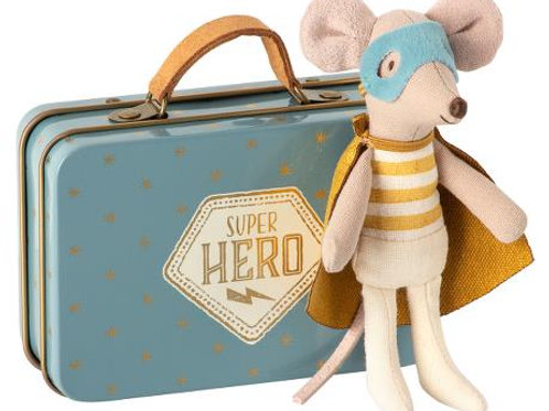 Maileg - Superhero Mouse in Koffer