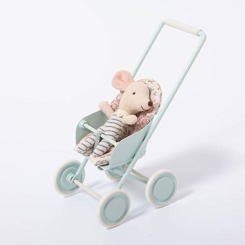 Maileg - Kinderwagen mint micro