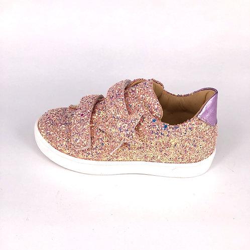 Jff - Sneaker mit Glitzer - rosa/gold
