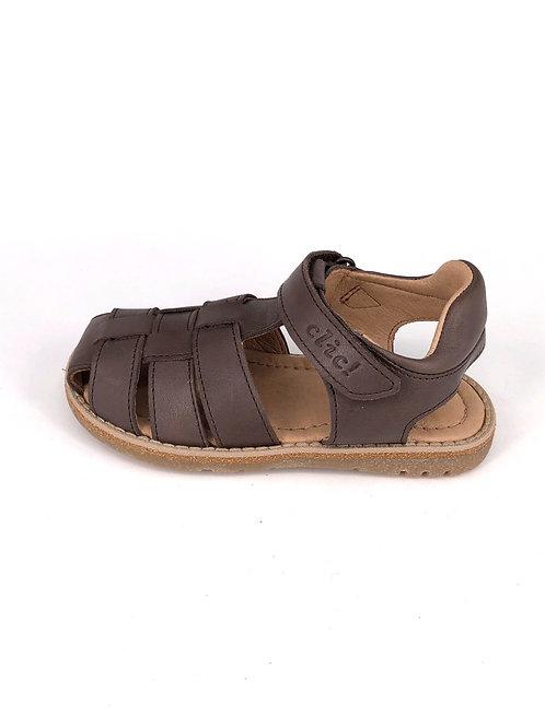 Clic! Sandale - dunkelbraun