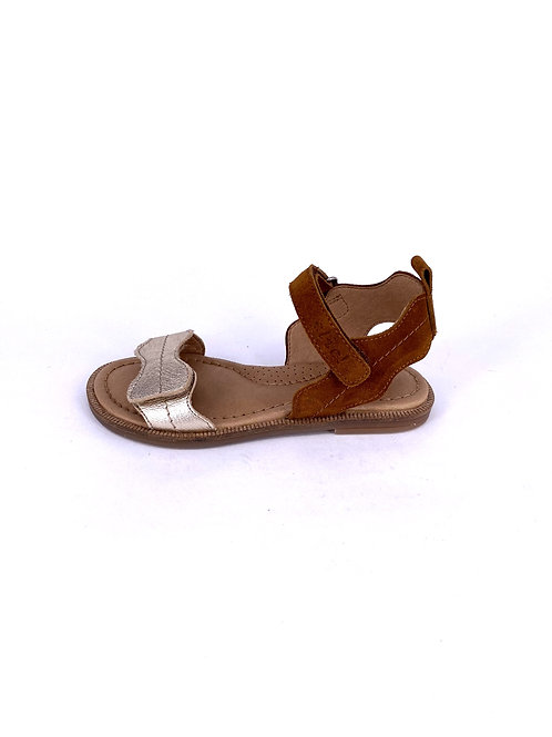 Clic! - Sandale gold/braun
