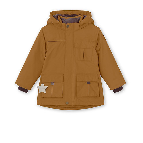 Mini A Ture - Kastor Winterjacke - rubber brown