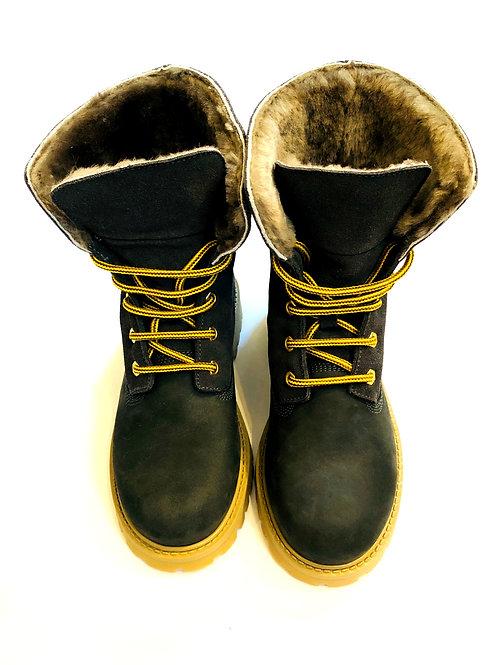 Gallucci - Boots mit Fell in dunkelblau