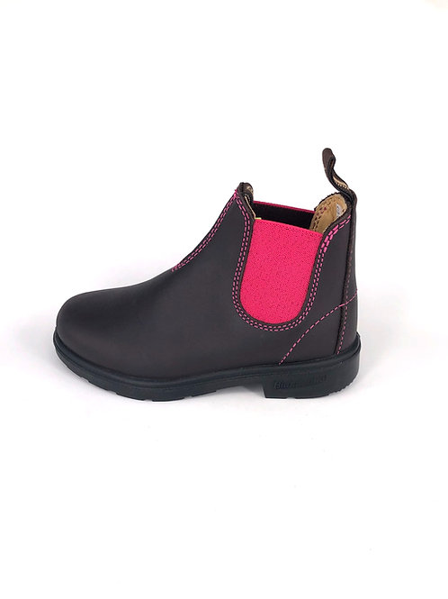BLUNDSTONE Stiefel - dunkelbraun/pink