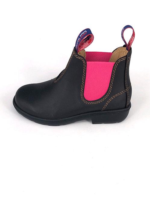 BLUE HEELER Chelsea Boots Wombat - dunkelbraun/pink