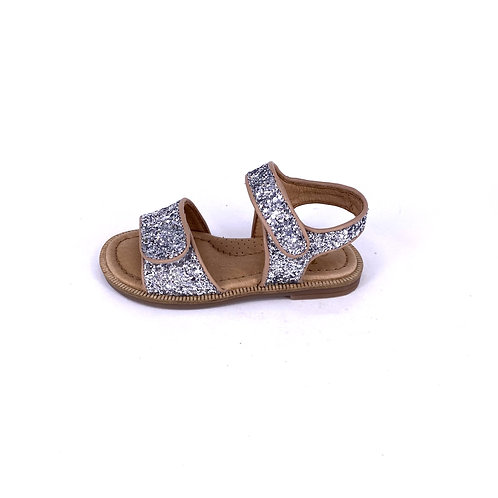 Clic! - Sandale mit Glitzer - Rose/Silber