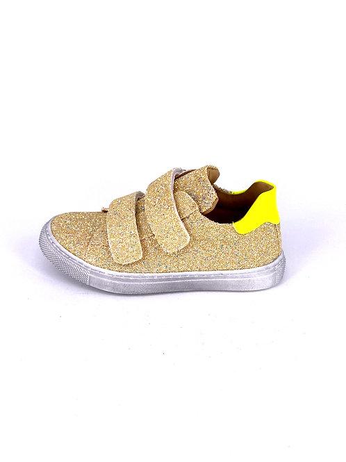Jff - Sneaker mit Glitzer - gelb/neon