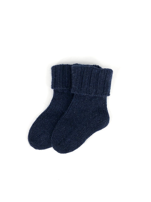 Oscar et Valentine - Kaschmir Socken navy