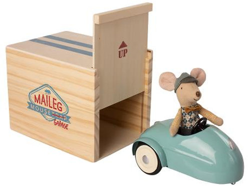 Maileg - Mouse Car with Garage - mint