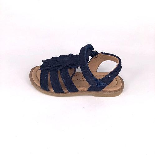 Clic! Sandale in dunkelblau mit Fransen